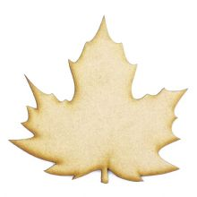 Soft Maple Leaf cut from 3mm MDF, Craft Blanks, Shapes, Tags, Autumn Leaf